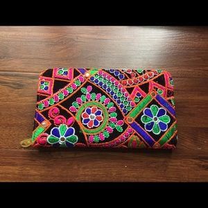 Anthropologie Bags - NEW Boho Multi Color Large Wallet